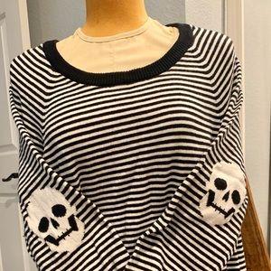 Torrid Black & White Skull Sweater